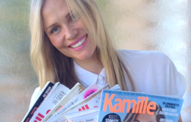 <p>KINE NYMO:</p><p>Her first 20 articles were sold to the largest women's magazine in Norway.</p>
