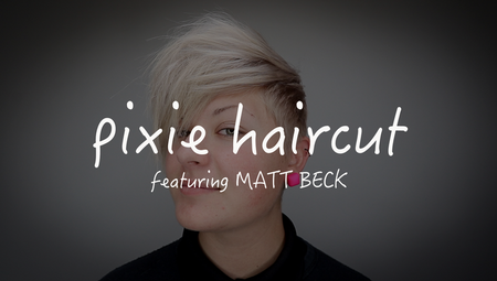 Short Disconnected Pixie Haircut