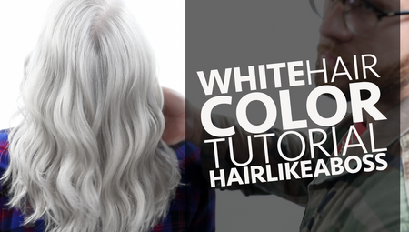 WHITE Hair Color Tutorial