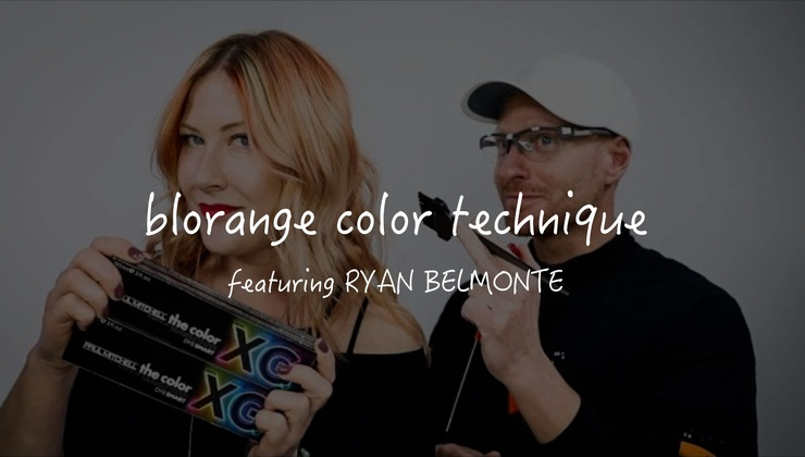 Blorange Hair Color Technique