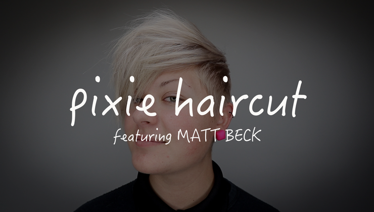 Short Disconnected Pixie Haircut