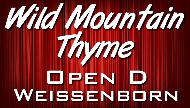 Wild Mountain Thyme - for Weissenborn - Open D Tuning