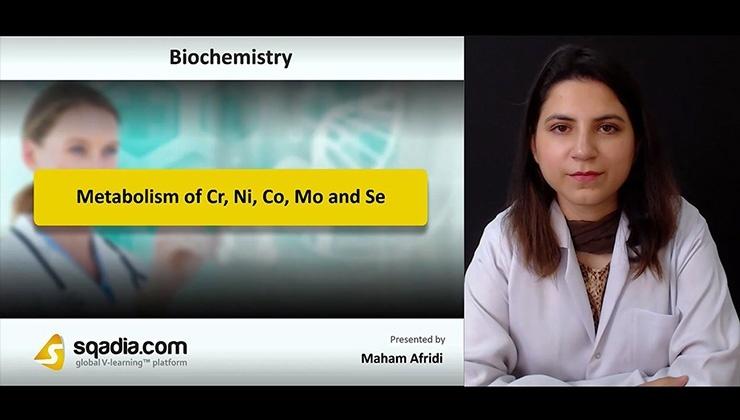 Metabolism of Cr, Ni, Co, Mo and Se