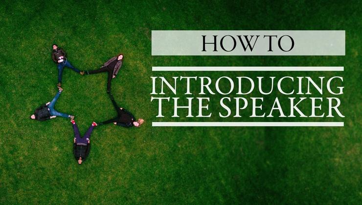 Introducing the Speaker