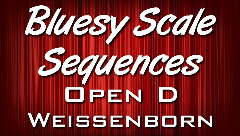 5 Bluesy Scale Sequences - Open D - Weissenborn