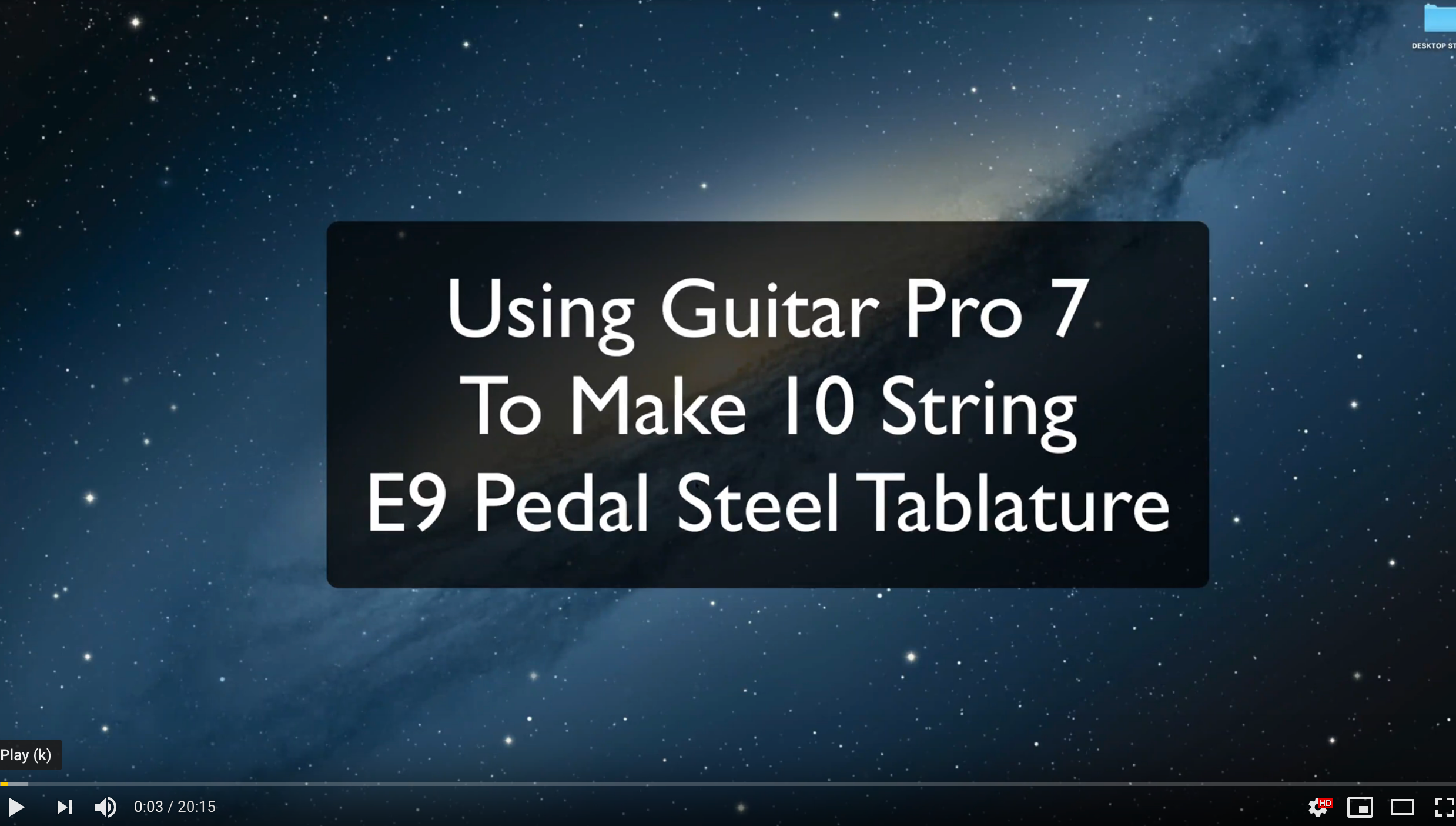 Using Guitar Pro 7 to Make E9 Pedal Steel Tablature
