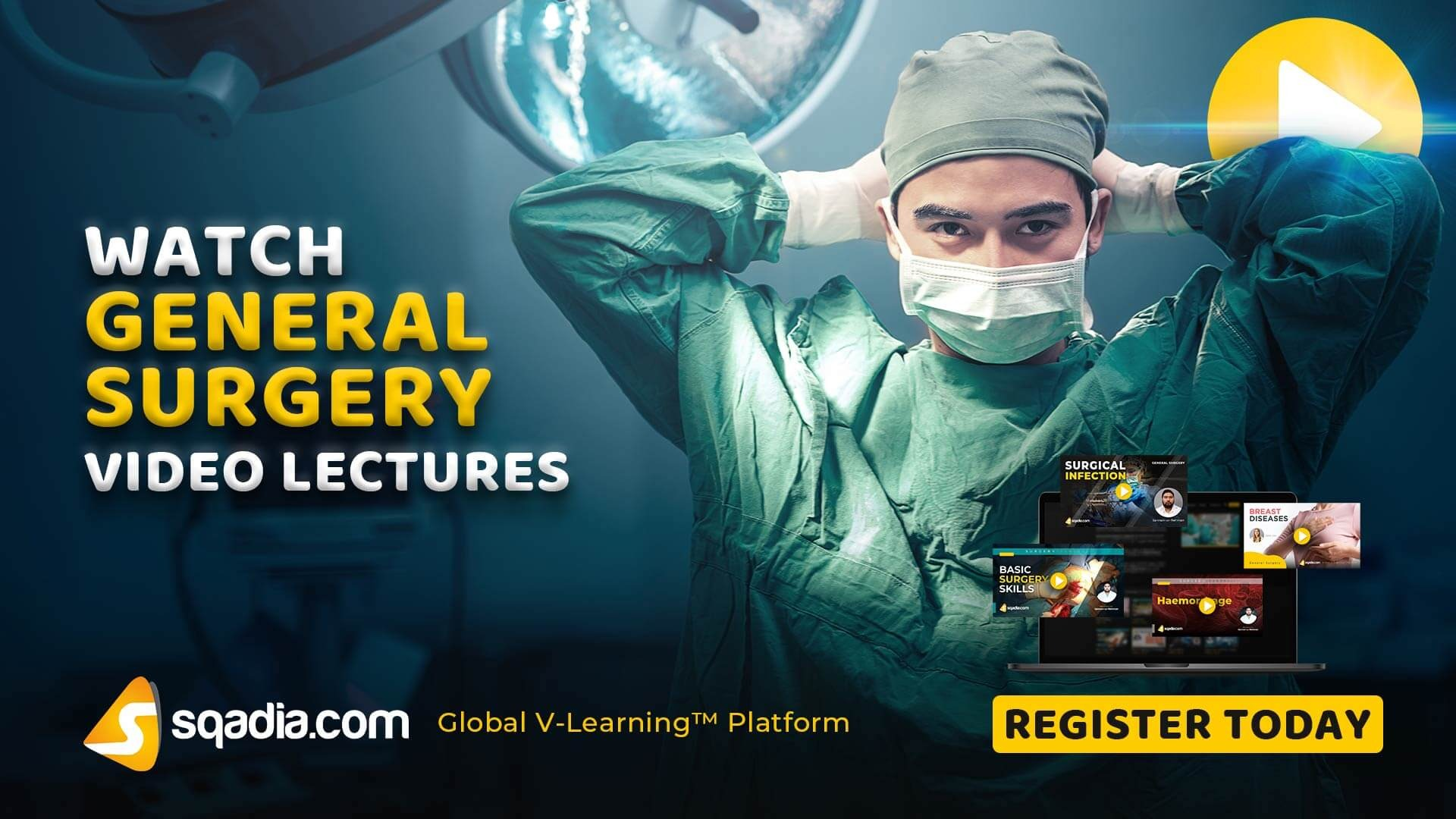 General Surgery Video Lectures | Medical | V-Learning | sqadia com