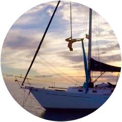 <p>Annie Dike, Aerialist &amp; Sailor</p>, <p>@HaveWindWillTravel</p>